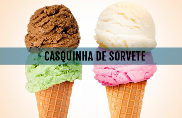 RECEITA: CASQUINHA DE SORVETE